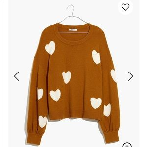 Madewell Heart Dot Balloon-Sleeve Sweater  XS